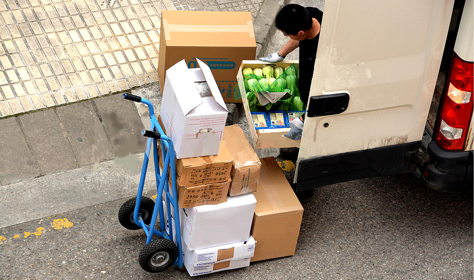 Produce wholesaler delivering products
